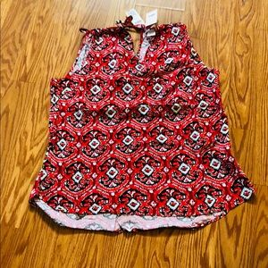 Red tank top, Summer Sale NWT, size Large
